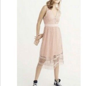 Abercrombie & Fitch Large Eyelet Lined Dress Sz M